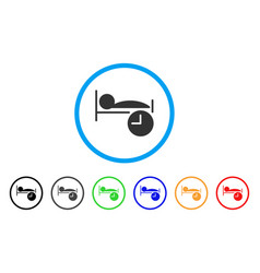 sleep time rounded icon vector image