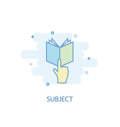 subject line concept simple line icon colored vector image