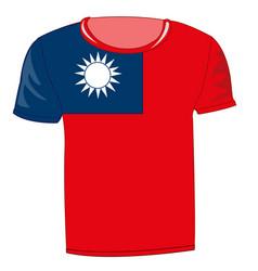 T-shirt flag country taiwan vector