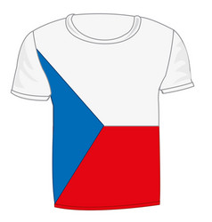t-shirt with flag chech vector image