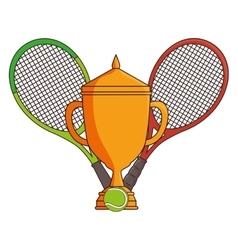 Tennis sport trophy award vector