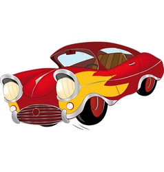 The old car from a cartoon film vector image