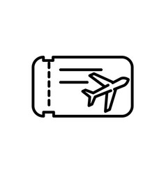 ticket airline tourism travel thick line vector image