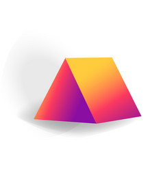 triangular prism - one 3d geometric shape with vector image