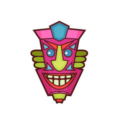 Tribal mask traditional colorful african face vector