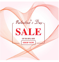 valentines day sale abstract background with vector image