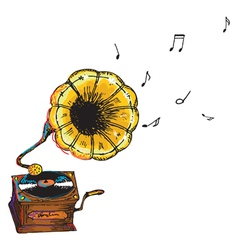 vintage gramophone vector image vector image