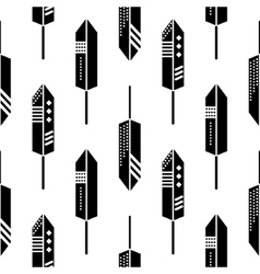 Boho feathers ornament seamless pattern vector image vector image
