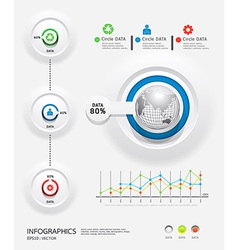 infographics set and Information Graphics vector image