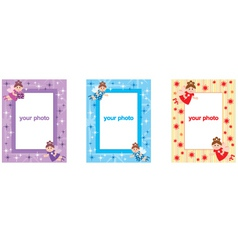 Photo frames with fairys vector image vector image