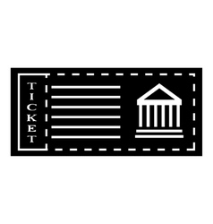 Ticket to museum icon simple style vector image vector image