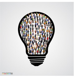 group of people in bulb vector image vector image