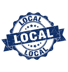 Local stamp sign seal vector