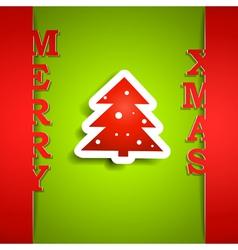 Merry Xmas paper card vector image vector image