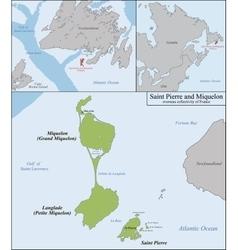 Saint Pierre and Miquelon map vector image vector image