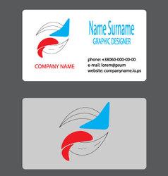 Business card logo branding vector image