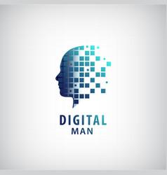 Digital man logo vector