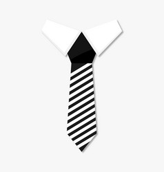 Necktie business style vector