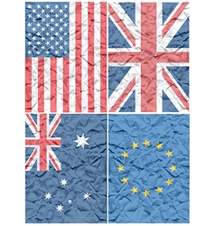 Various flags vector image