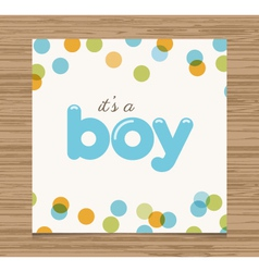baby shower card boy vector image