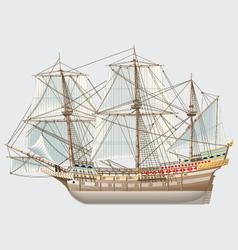 detailed vintage ship galeon vector image