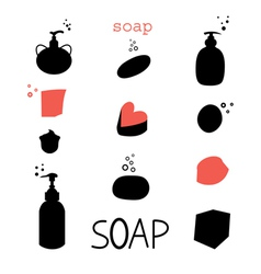 Icons soap vector image vector image