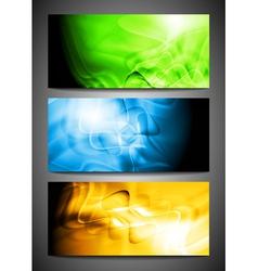 Wavy banners vector image vector image