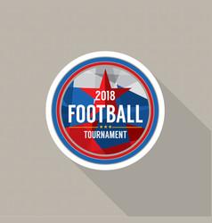2018 football champions badge vector image vector image