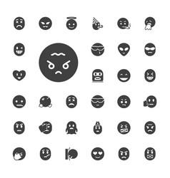 33 emoji icons vector