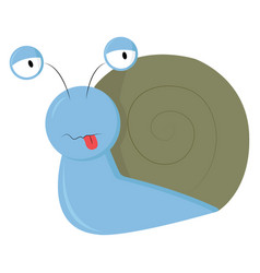 A blue snail or color vector