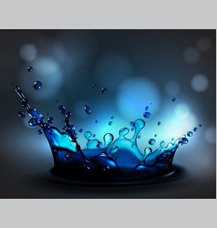 abstract background with transparent water splash vector image
