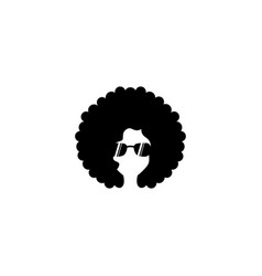 afro woman icon design template vector image