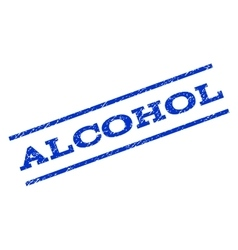 Alcohol Watermark Stamp vector image