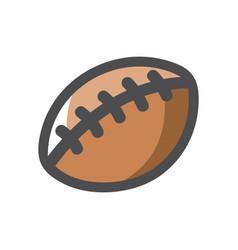american football leather ball cartoon vector image