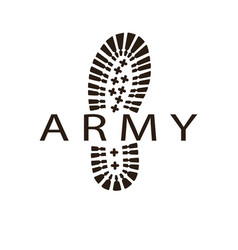 Army boot vector