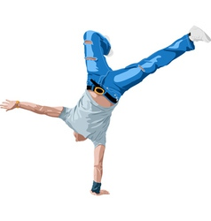 B boying vector image