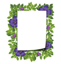 beautiful flower frame template vector image