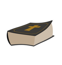 bible isolated holy book on white background vector image
