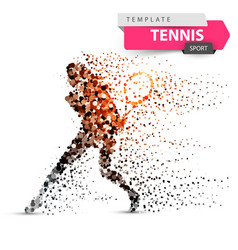 big tennis - dot sport template vector image