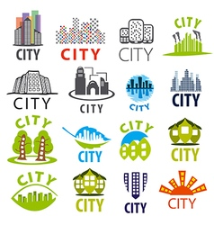 biggest collection of city logo vector image