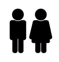 black male and female silhouette icon vector image