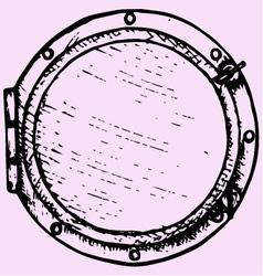 boat window porthole vector image