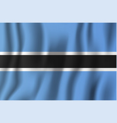 botswana realistic waving flag national country vector image