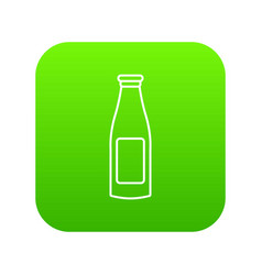bottle cream icon green vector image