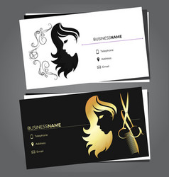 business card for beauty salon vector image