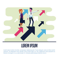 Business people poster vector