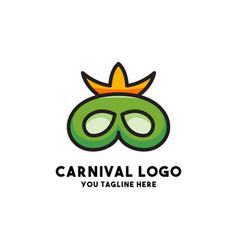 Carnival logo concept design modern vector