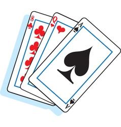 Cartoon Playing Cards vector image