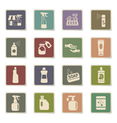 chemicals store icon set vector image