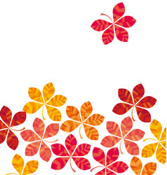 Chestnut abstract stylized fall leaves vector